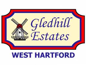 gledhill estates logo with west hartford transparent 1 1